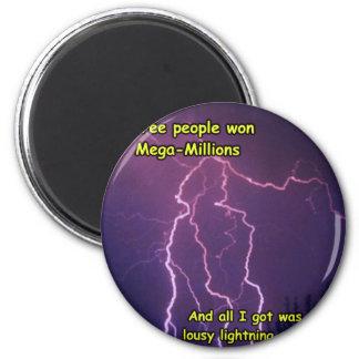 Customizable Lightning Strike Merchandise Magnet