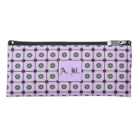 Customizable Lilac Geometric Pattern Pencil Case