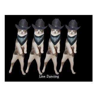 Customizable Line Dancing Cat Postcard