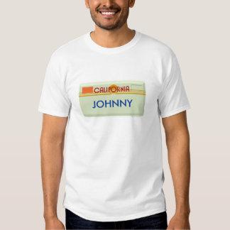 Customizable Lisence Plate Tshirt