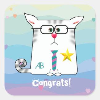 Customizable: Little Alfie congrats Square Sticker