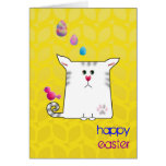Customizable: Little Alfie Easter yellow Greeting Cards