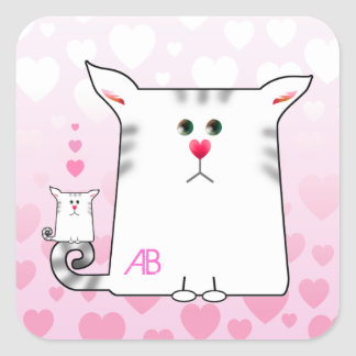 Customizable: Little Alfie & littler Alfie Square Sticker