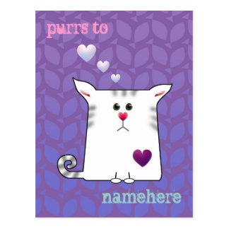 Customizable: Little Alfie purple Postcard