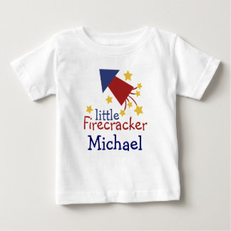 Customizable Little Firecracker kiddie shirt