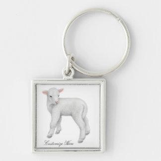 Customizable Little Lamb Keychain