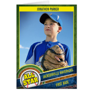 Customizable Little League All-Star Greeting Card