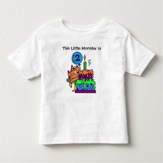 Customizable Little Monster Birthday T-shirt