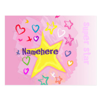 Customizable: Little Star Postcard