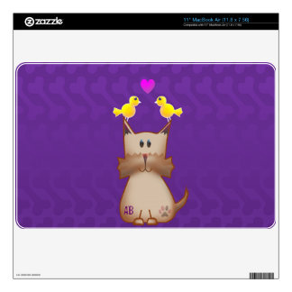 Customizable: Little Terry n birdie love Decals For MacBook