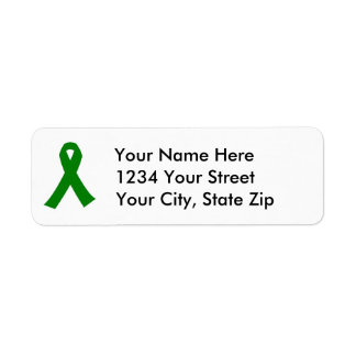 Customizable Liver Cancer Awareness Address Label