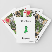 Customizable Liver Cancer Awareness Bicycle Cards