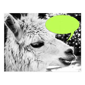 Customizable Llama Speech Bubble Postcard