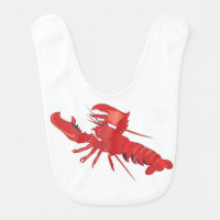 Customizable Lobster Baby Bib
