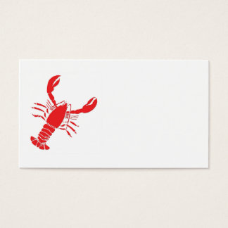 Customizable Lobster Business Card