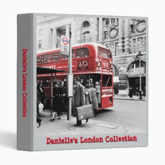 Customizable London Collection Binder