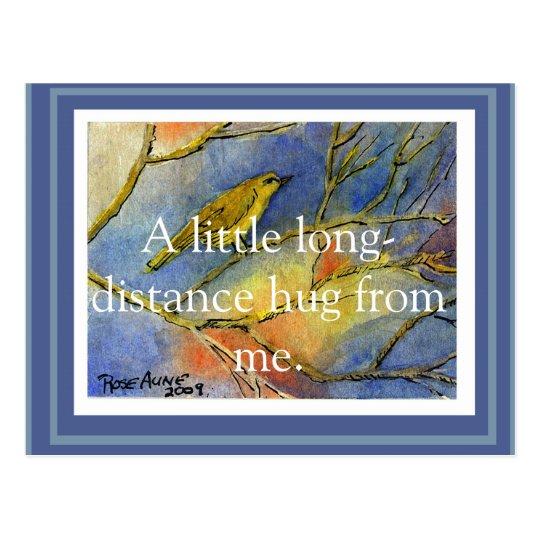 Customizable Long Distance Hug Postcard