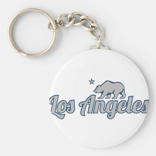 Customizable Los Angeles Basic Round Button Keychain
