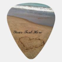 Customizable Love at the Beach Guitar Pick