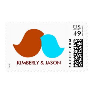 Customizable Love Birds Stamps