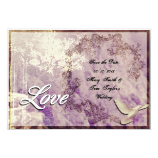 Customizable 'Love Dove'  - Save the Date card
