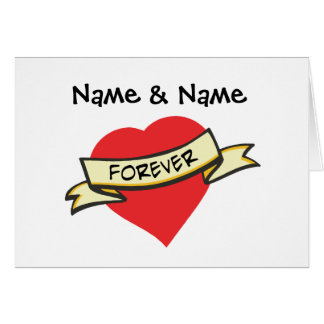 Customizable Love Forever Gifts Card