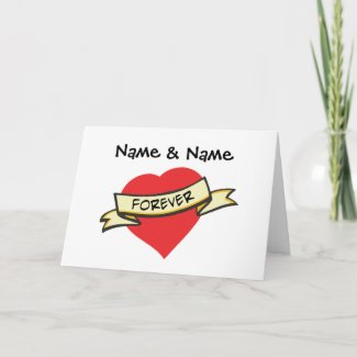 Customizable Love Forever Gifts Greeting Cards