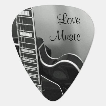 Customizable Love Music Guitar Pick by ops2014 at Zazzle