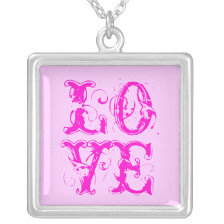 CUSTOMIZABLE LOVE NOTE SQUARE PENDANT NECKLACE