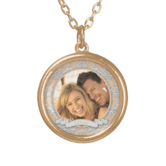 Customizable Love Round Necklace_Small Gold Plated Necklace