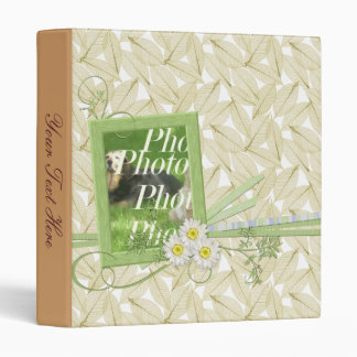 Customizable Lovely Binder Flowers and Your Photo