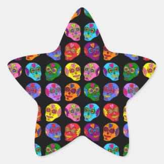 Customizable Lucha Libre Sugar Skulls Star Sticker