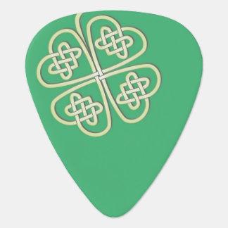 Customizable Lucky Celtic Clover Guitar Pick