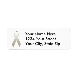 Customizable Lung Cancer Awareness Address Label