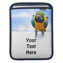 Customizable Macaw Sleeve For iPads