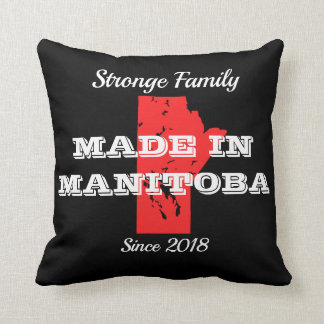 Customizable Made in Manitoba Throw Pillow