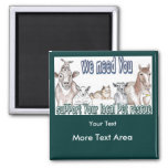 Customizable Magnets-Pet Rescue