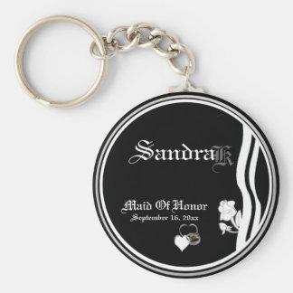 Customizable Maid Of Honor Keepsake Keychain