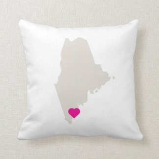 Customizable Maine State Love Reversible Pillow