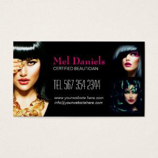 Customizable Makeup Artist Business Card