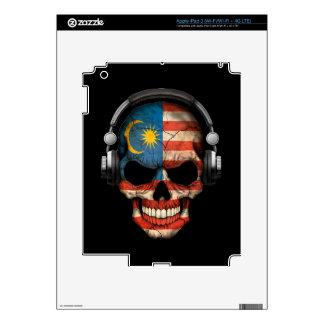 Customizable Malaysian Dj Skull with Headphones Decals For iPad 3
