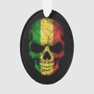 Customizable Mali Flag Skull Ornament