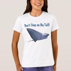 Customizable Manta Ray Cartoon T-Shirt
