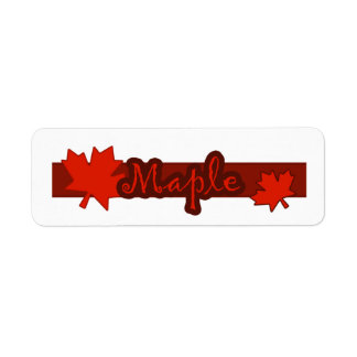 Customizable Maple Bakery Labels