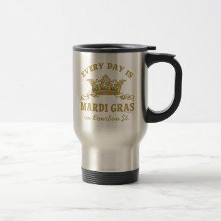 Customizable Mardi Gras 15 Oz Stainless Steel Travel Mug