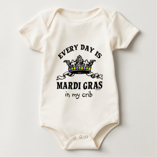 Customizable Mardi Gras Baby Bodysuit