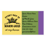 Customizable Mardi Gras Double-Sided Standard Business Cards (Pack Of 100)