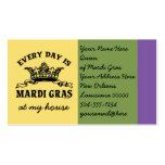 Customizable Mardi Gras Business Card