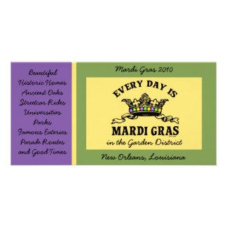 Customizable Mardi Gras Card