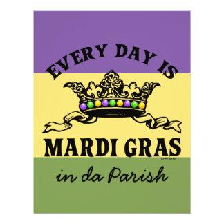 Customizable Mardi Gras Flyers